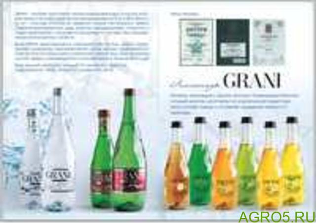 Минеральная вода и линейка лимонадов GRANI