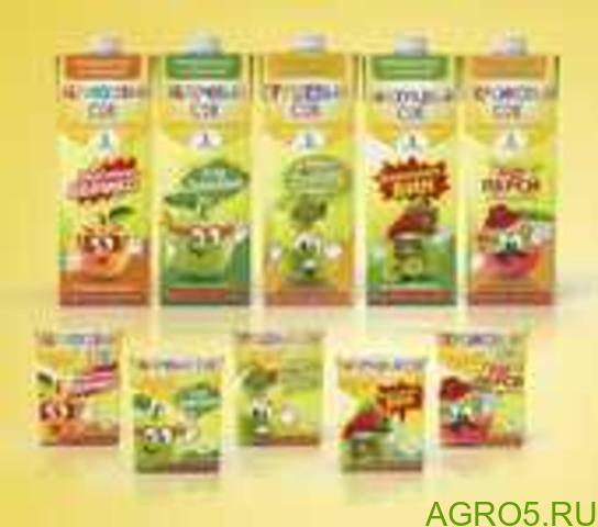 Соки для детского питания с 3х лет