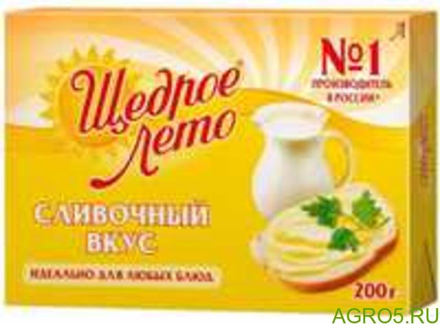 Маргарин Щедрое Лето 72.5% 200 гр,500 гр,1 кг