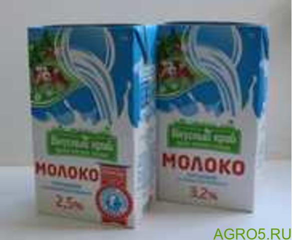 Молоко ультрапастеризованное 1 литр 2,5% и 3,2%
