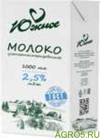 "Молоко ""Южное"", м.д.ж. 2,5% (ТБА), 1 литр"