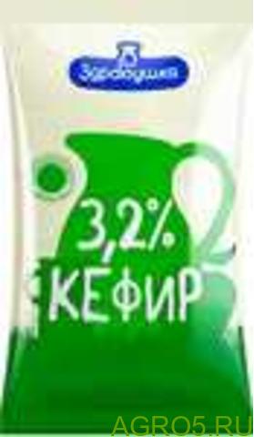 "Кефир полиэт. пакет 3,2% 1,0л ""Здравушка"""