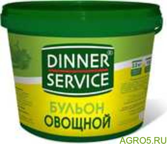 Бульон овощной DINNER SERVICE (2,000 кг/2,090 кг) кор.4 шт